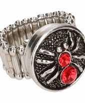 Feest rode spin chunk ring voor volwassenen