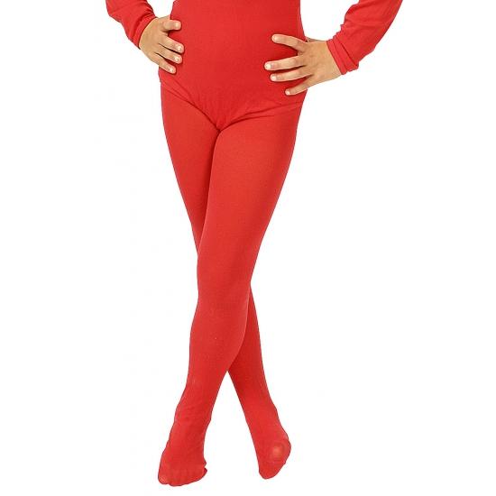 Feest rode verkleed panty voor kinderen