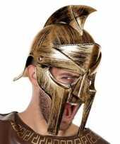 Feest romeinse verkleed helm met vizier voor heren