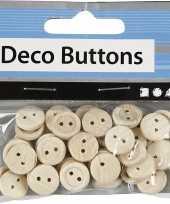 Feest ronde houten knoopjes 50 stuks