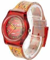 Feest rood disney cars analoog horloge voor jongens
