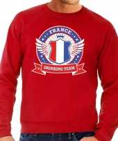 Feest rood france drinking team sweater heren