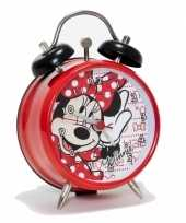 Feest rood minnie mouse wekkertje