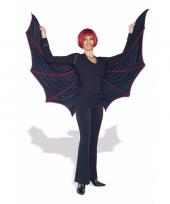 Feest rood zwarte fluwelen vleugels