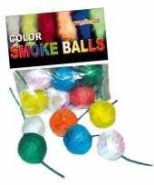 Feest rook erwten makers gekleurd 6x stuks 8 12 sec