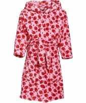 Feest roze badjas aardbei voor meisjes