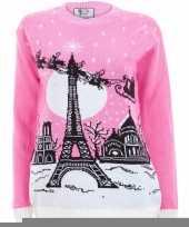 Feest roze foute print dames truien paris