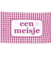 Feest roze geboorte vlag meisje 90 x 150 cm
