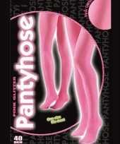 Feest roze glitter pantys 40 denier