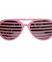 Feest roze lamellen bril