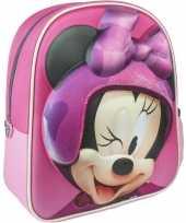 Feest roze minnie mouse rugtas rugzak 25 x 31 cm voor meisjes