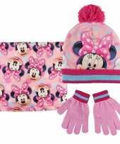 Feest roze minnie mouse winterset voor meisjes