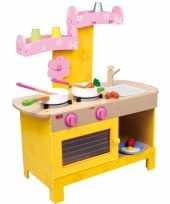 Feest roze speelkeuken met uitneembare wasbak