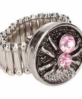 Feest roze spin chunk ring voor volwassenen