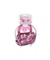 Feest roze tasje met roze diadeem voor meisjes