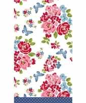 Feest rozen print tafellaken tafelkleed 138 x 220 cm