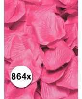 Feest rozenblaadjes roze gekleurd voordeelpakket