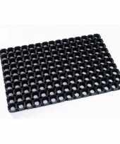 Feest rubberen deurmat buitenmat 80 x 50 cm