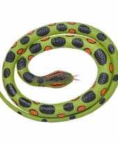 Feest rubberen speelgoed anaconda slang 117 cm