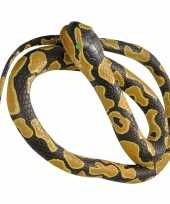 Feest rubberen speelgoed koningspython mega slang 183 cm