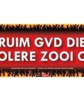 Feest ruim gvd die kolere zooi op sticky devil sticker