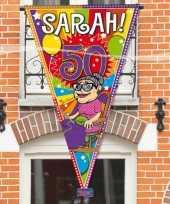 Feest sarah 50 jaar mega puntvlag