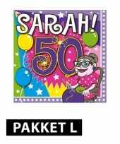 Feest sarah 50 jaar pakket large
