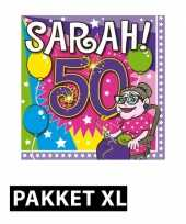 Feest sarah 50 jaar pakket xl