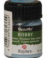 Feest schilder materialen verf lichtblauw 15 ml