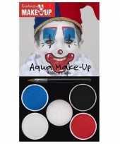 Feest schmink set horror clown 5 kleuren