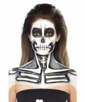 Feest schmink set skelet zwart wit