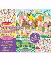 Feest school stickers met bloemengeur voor meisjes