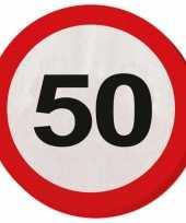Feest servet 50 jaar verkeersbord