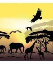 Feest servetten afrika safari 3 laags 20 stuks