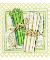 Feest servetten asperges 3 laags 20 stuks