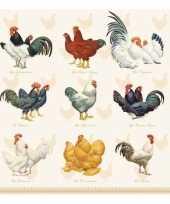 Feest servetten kip haan pasen 3 laags 20 stuks