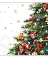 Feest servetten met kerstboom 20 stuks
