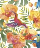 Feest servetten tropische print 20 stuks