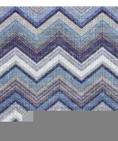 Feest servetten zigzag blauw 3 laags 20 stuks