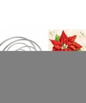Feest servettenhouder met kerst servetten kerstster