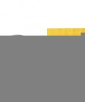 Feest servettenhouder met pasen servetten geel