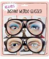 Feest set van twee nerd brillen