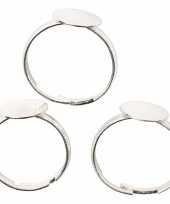 Feest sieraden maken basis ringen zilver 15x
