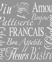 Feest sierlijke franse teksten schilderen