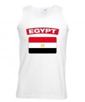 Feest singlet-shirt tanktop egyptische vlag wit heren