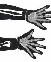 Feest skelet accessoire handschoenen kids