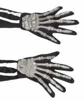 Feest skelet handschoenen voor volwassenen