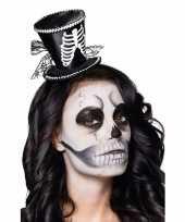 Feest skeletten dames hoedje op tiara