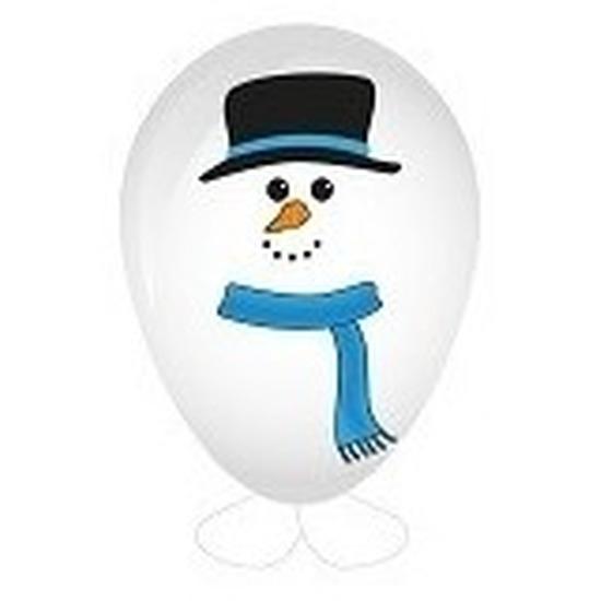 Feest sneeuwpop ballon versieren 27 cm