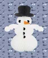 Feest sneeuwpop man van brandvertragend papier